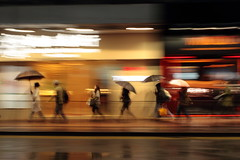 Shoppers, Hong Kong (Daniel Trim) Tags: china city travel people motion photography central hong kong shoppers