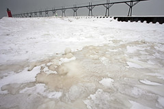 RIPPLES (local paparazzi (isthmusportrait.com)) Tags: travel sea lighthouse house lake distortion snow cold texture tourism ice water iceage landscape outdoors prime weird iso200 frozen crazy interesting pod nikon cloudy snowy path michigan unique ripple perspective windy overcast blowing tourist lakemichigan greatlakes odd timezone windswept boardwalk chilly ripples iceberg rippled icy nikkor ultrawide graysky slippery smalltown blowingsnow belowzero subzero 2014 grayday timechange iceblock froze blockofice southhavenmichigan southhavenmi frozeover icechunk vanburencountymichigan photoshopelements7 puremichigan canon5dmarkii pse7 localpaparazzi redskyrocketman lopaps nikon18mm35ais velloadapter michiganlighthousetrip2014