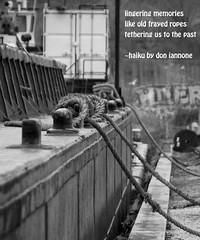 Old Ropes (Don Iannone) Tags: poetry haiku ropes oldboat imagepoetry clevelandindustrialflats