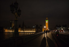 Long Shadows (Olly Plumstead) Tags: light london night contrast canon dark big long shadows ben dramatic handheld 5d cinematic 1740mml 5dmarkii 5d2 ollyplumstead