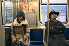 Dio and Lu (Luna Nerea | Daysleeper) Tags: china city travel blue friends people woman chicago man cute men cars girl smile hat america train canon subway fun eos illinois fantastic chair women friend funny drink sweet chinese best explore alcohol dio l metra meet lu discover advertise eeuu elevate meating bacardy 400d experiencie