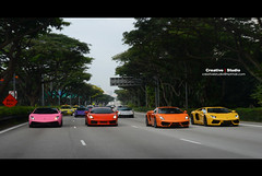 Rainbow 2 - Singapore Lamborghini (Creative l Studio) Tags: pink orange yellow studio photography singapore photographer purple military creative automotive giallo orion lamborghini gallardo borealis  lp560 aventador lp570 lp700 creativelstudio