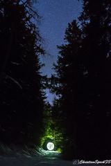 Mountain snow paths (christian speck) Tags: trees sky snow lightpainting night 35mm stars outdoors schweiz switzerland suisse sony ciel nuit valais etoiles rx1 mayensdechamoson