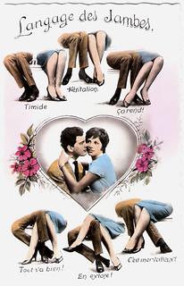 Valentine's Day: Langage des jambes