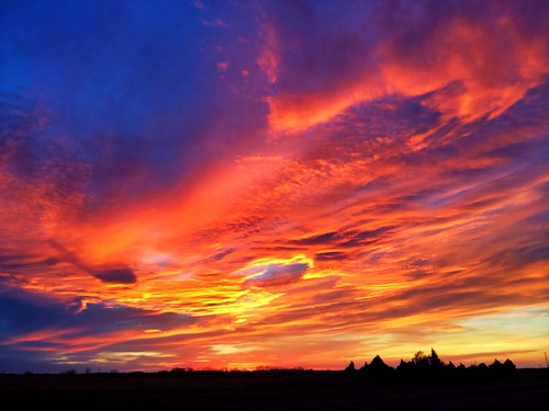 Sunset just south of Woodward, Oklahoma by Wesley Fryer, on Flickr
