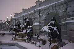 askew - Court of Neptune fountain - Jefferson Bldg - Library of Congress - Washington DC - 2014-02-13 (Tim Evanson) Tags: winter snow washingtondc blizzard winter2013