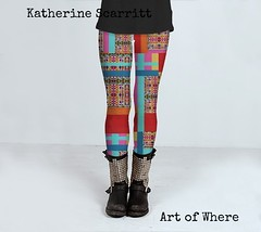 Eye Play Patchwork Leggings by Katherine Scarritt (8katherine8) Tags: geometric fashion design colorful bright tribal clothes trend leggings kcs artofwhere katherinescarritt