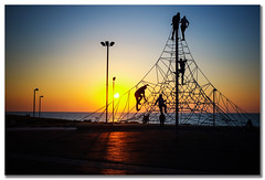 In the web (amira_a) Tags: sunset beach silhouette playground fuji web silhouettes explore climbing fujifilm 82 x100 stphotographia x100s 21022014
