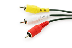 conector RCA (Mimadeo) Tags: camera red white industry colors television yellow electric digital jack three tv dvd video wire technology background cable device equipment whitebackground stereo sound link plug component electronic signal audio input rca isolated connection connect connector isolatedonwhite