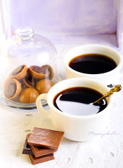 cup of coffee (manyakotic) Tags: food coffee breakfast dessert drink sweet chocolate homemade snack espresso treat appetizer cappuccino candies confectionary