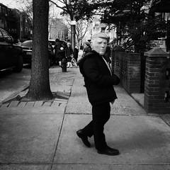 Donnie (ShelSerkin) Tags: shotoniphone hipstamatic iphone iphoneography squareformat mobilephotography streetphotography candid portrait street nyc newyork newyorkcity gothamist blackandwhite purim