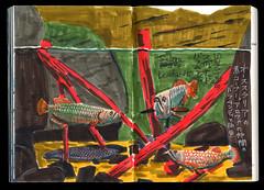 2017.03.18-06 (タケウマ) Tags: sketch sketchbook studiotakeuma doodle drawing illustration illustrator pen aquarium 須磨海浜水族公園 水族館 fish art