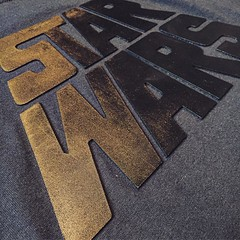 Photo of In a galaxy far far away....  ?? #starwars #thelastjedi #meeshagroup #printedmerchandise #presssample #tshirtoftheday #tshirtoftheday