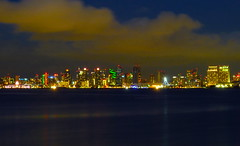 San Diego Skyline at Night, San Diego, Calif. (wolfmanradio) Tags: sandiego sandiegoskyline sandiegobay shelter island