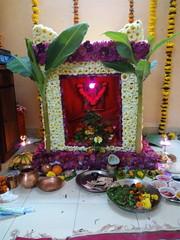 IMG_20170211_192626 (bhagwathi hariharan) Tags: rangoli kolam nallasopara nalasopara rose pooja christmas 2016 festivals mumbai goregaon prithvilandproject 2017 celebrations lordshani lordayyappa