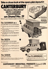 classic car automobile cars automobiles voitures autos automobili classique voiture rétro retro auto oldtimer klassik classica publicity advert advertising advertisement canterbury ford transit escort motorhome motorcaravan wohnmobil camping camper savannah seeker siesta plainsman van fourgon fourgonette furgoncino