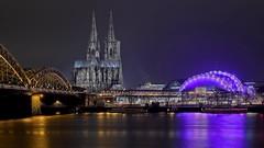 Cologne by night (Juergen Huettel Photography) Tags: köln kölner dom musical dome cologne rhein rhine water night nacht deutschland nrw brücke hohenzollernbrücke river fluss jhuettel