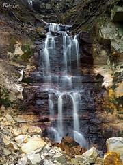Kivisilla waterfall (Kalev Lait photography) Tags: nature waterfall river stream water sandstone limestone saka estonia explore travel hike longexposure moss calm spring cliff