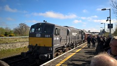 Irish Railways class 071 locomotive 081 at Ballinasloe (zipdiskdude) Tags: class071 rpsi railtour ballinasloe ireland iarnrodeirann irishrail marbletribesman