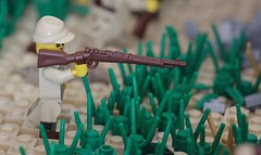 Arisaka in Action! (X39BrickCustoms .com) Tags: lego custom military guns printing ww2 japenese marines moc battle peleliu