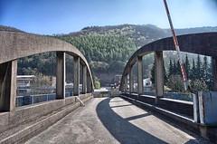 BRIDGE WITH WALLS OVER THE RIVER LEMME HDR (1ffischer) Tags: germany deutschland nrw nordrheinwestfalen 2017 lenne sauerland brücke mauer trump hdr