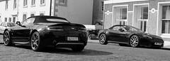 Two Aston Martin Vantage at Pittenweem in Scotland! (simpaticoltd) Tags: super cars aston martin vantage s v8 black british pittenweem fishing village fife scotland tourism