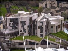 £414 million Scottish Parliament building, Holyrood, Edinburgh (Pitheadgear) Tags: edinburgh scotland uk britain greatbritain buildings architecture scottishassembly scottishparliament politics politicians ministers modernarchitecture architecturaldisasters lumixgx8