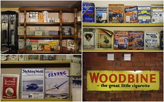 'Cigarettes and Magazines', Norton Museum, Bromsgrove (alanhitchcock49) Tags: norton coillection museum bromsgrove 6 march 2017 west midlands birmingham cigarettes and magazines mosaic collage pills potions