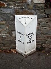 Mile Post, Cardiff Road, Cardiff 7 March 2017 (Cold War Warrior) Tags: castiron milepost milestone cardiff llandaff