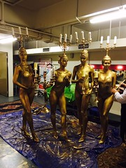 Beauty and The Beast Movie Premiere, State Theatre bodypainting candelabras human statue bodyart (Eva Rinaldi Celebrity and Live Music Photographer) Tags: beauty the beast bodypainted candelabras