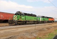 The BN in 2017 (BravoDelta1999) Tags: burlingtonnorthernsantafe bnsf railway burlingtonnorthern bn railroad chicagoburlingtonandquincy cbq lacrosse wisconsin emd sd402 1922 sd60m 1428