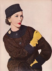 Vogue Editorial shot by Penn 1955 (barbiescanner) Tags: irvingpenn vintage retro fashion vintagefashion vogue vintagevogue 50s 50sfashion editorial