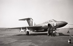XH905. Royal Air Force Gloster Javelin FAW.9 (Ayronautica) Tags: xh905 royalairforce glosterjavelinfaw9 raf airshow stmawgan september 1959 aviation military fighter scanned ayronautica