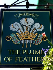 Plume of Feathers (Draopsnai) Tags: plumeoffeathers pub pubsign fleurdelis parkvista greenwich