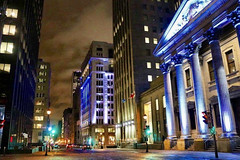 Downtown Montreal (alliejehle) Tags: downtown city cityscape montreal nighttime exposure lights architecture canada quebec explore travel