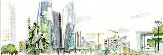 La Défense de Paris et la tour EDF