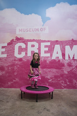 Museum Of Ice Cream - Los Angeles 2017 (evaxebra) Tags: museum ice cream icecream moic museumoficecream art pink installation losangeles la downtown 7th luna minnie mouse dress jump trampoline sign