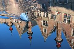 Swan lake (Croix-roussien) Tags: belgium belgique brugges cygne swann castle reflection water tour tower nature mirror fabuleuse excellencedumois cof074mark cof074hole cof074mari cof074dmnq cof074chri cof074mire cof074nico cof074uki cof074mvfs