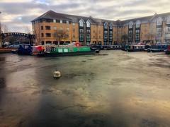 Photo of #clouds #landscape #marina #boat #ice #reflection
