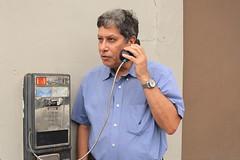 Trying to reach the past (Carlos A. Aviles) Tags: telephone telefono comunicacion communication man hombre talk talking hablando