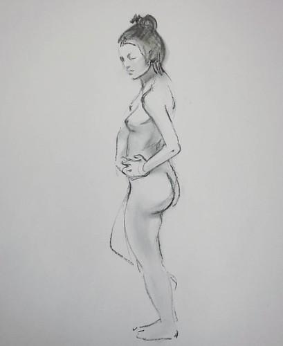 Пробовал углем рисовать) 10 минут