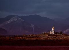 Isle Ornsay Lighthouse (BoboftheGlen) Tags: skye island isle ornsay sound sleat knoydart fakery hotel midgies swarms weeblighters lighthouse mountains stream snow waterfall scotland