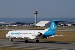 VH-FNN Skywest Aviation Fokker 100 (johnedmond) Tags: perth ypph australia fokker f100 skywest aviation aircraft aeroplane airplane sel55210 55210mm sony controltower