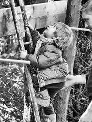Grandir-Oser-Découvrir / (jeanclaude-Betapixel) Tags: child enfance grandir échelle noiretblanc monochrome bw panasoniclumixgx8