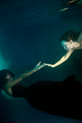 ''Lakelee'' etude {2} (dewframe) Tags: water underwater dreamers girls youngwoman touch emotive newmood romantic conceptual