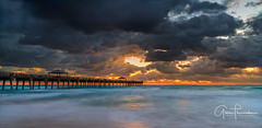 Florida Life: Eye Of The Storm (Thūncher Photography) Tags: sony a7r2 sonya7r2 ilce7rm2 zeissfe1635mmf4zaoss fx fullframe longexposure scenic landscape waterscape oceanscape nature outdoors sky clouds colors sunrise storm beach pier waves junobeach junobeachpier jupiter florida southeastflorida atlanticocean