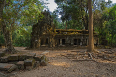 Angkor ( Philippe L PhotoGraphy ) Tags: cambodge saigonhanoi asiedusudest asie krongsiemreap siemreapprovince kh angkor ruines site bibliothèque taprohm temple cambodia ruins architecture religious sousbois pierres