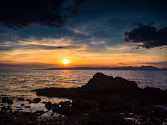 A Scottish Sunset (stephen cosh) Tags: ayrshire blackwhite dunure hasselbladx1d landscape mediumformat scotland seascape stephencosh sunset xcd45mm