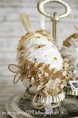 OvetteShabby_11w (Morgana209) Tags: ovetti uova decorazione shabby easter pasqua riciclo cartadapacco sacchettodelpane fiorellini perline fattoamano handmade diy creatività riciclocreativo recupero