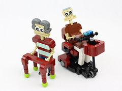 Walker and Mobility Scooter (David FNJ) Tags: lego mobility scooter walker absbuilderchallenge